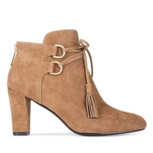 TARYN ROSE TRISHA SUEDE LEATHER ANKLE BOOTS
